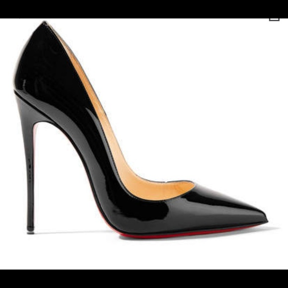 watch 58834 a5799 Christian Louboutin Black Patent Leather Pumps